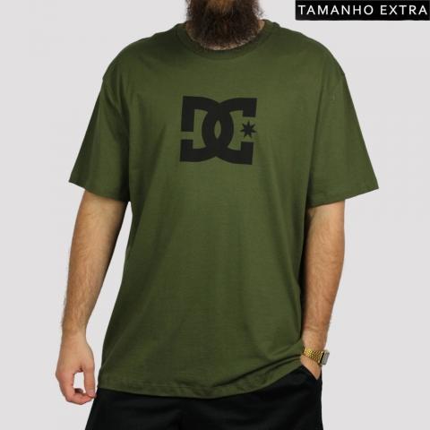 Camiseta DC Shoes Star - Verde Militar (Tamanho Extra)
