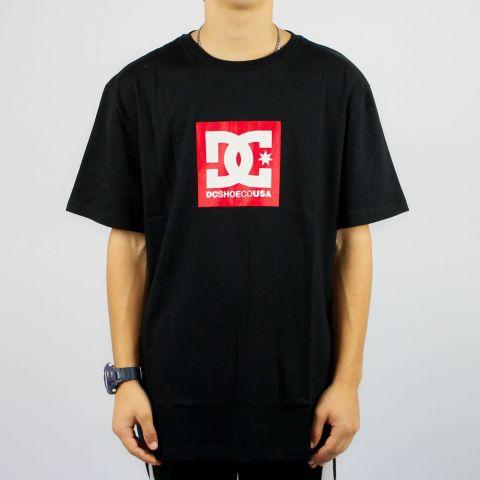 Camiseta Dc Shoes Square Star - Preta