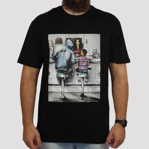Camiseta DGK Ice Cream Shop - Preta