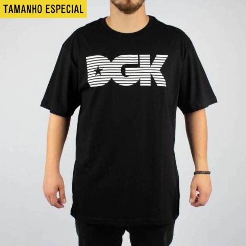 Camiseta DGK Levels Preta (Tamanho Especial)