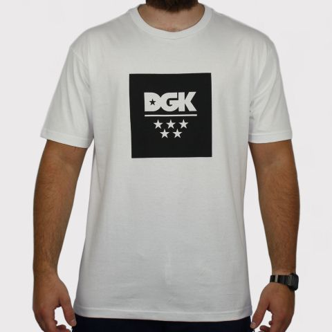 Camiseta DGK New All Star - Branco/Preto