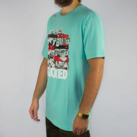 Camiseta DGK Stacked - Azul Bebê