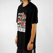 Camiseta DGK Stacked Preta