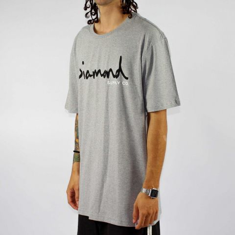 Camiseta Diamond Brillant - Cinza
