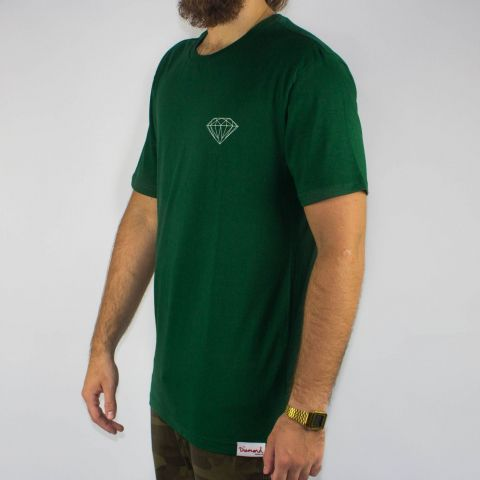 Camiseta Diamond Brilliant Logo Forest Verde