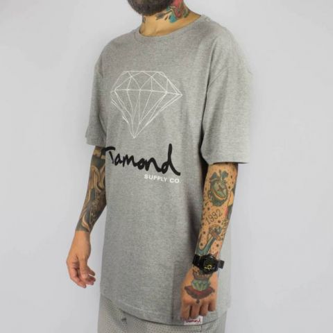 Camiseta Diamond OG - Heather Cinza