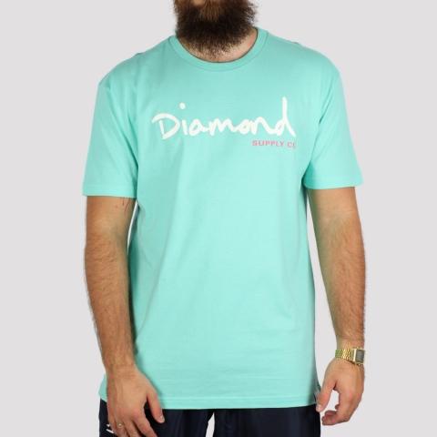Camiseta Diamond Og Script - Diamond Blue