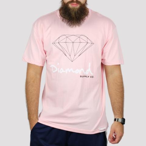 Camiseta Diamond OG Sign Tee - Pink