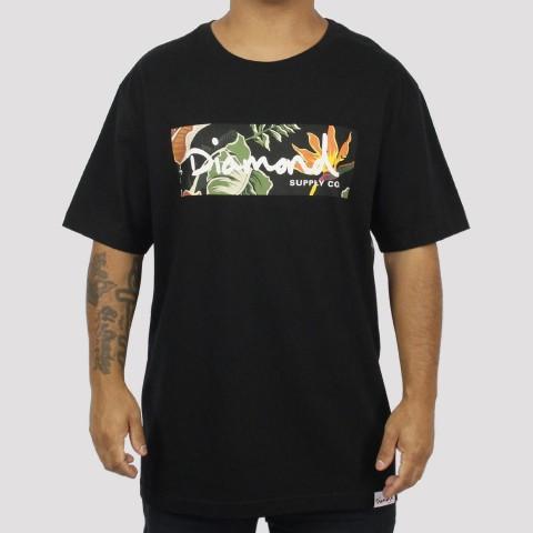 Camiseta Diamond Paradise Box Logo Tee - Preta