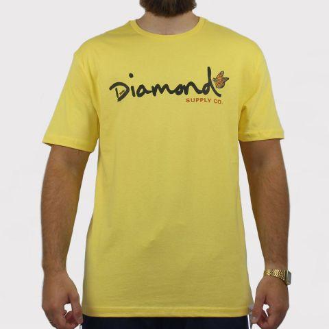 Camiseta Diamond Paradise Og Script - Amarela
