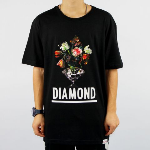 Camiseta Diamond Pollination - Preta