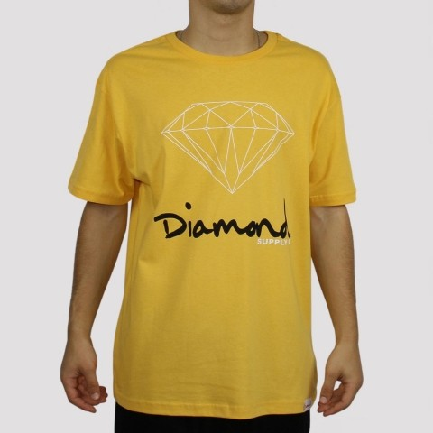 Camiseta Diamond Sign - Gold