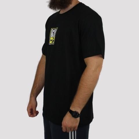 Camiseta Double G Basic Logo - Preta/Neon