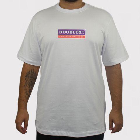 Camiseta Double G Logo - Branca/Roxo