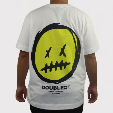 Camiseta Double G Over Size - Off White/Verde