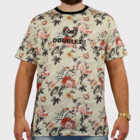 Camiseta Double G Print - Off White