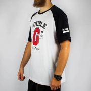 Camiseta Double G Raglan From Los Angeles - Branca/Preta