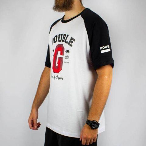 Camiseta Double G Raglan From Los Angeles - Branca/Preta