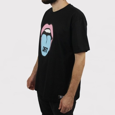 Camiseta DR7 Street Candy Mouth - Preto