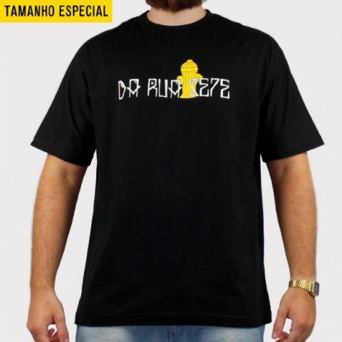 Camiseta DR7 Street Hidrante (Tamanho Especial) - Preto/Amarelo/Branco