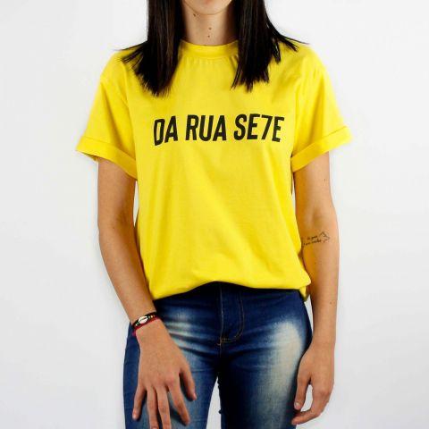 Camiseta DR7 Street Reflete - Amarela/Preta