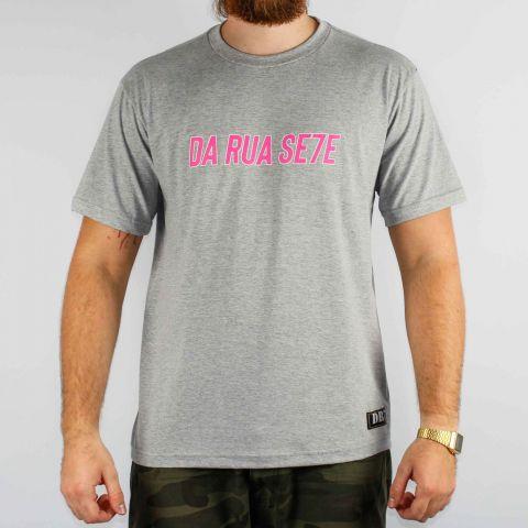 Camiseta DR7 Street Reflete - Cinza/Rosa