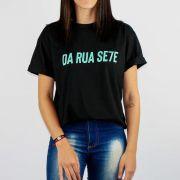 Camiseta DR7 Street Reflete Preto/Verde Água