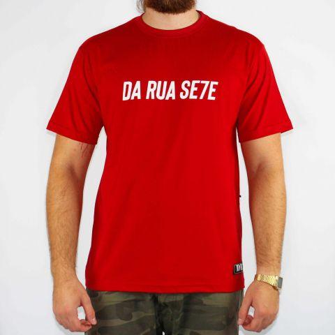 Camiseta DR7 Street Reflete - Vermelho/Branco