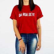 Camiseta DR7 Street Reflete Vermelho/Branco