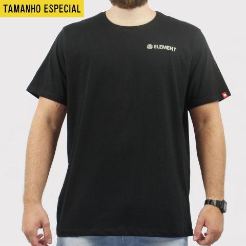 Camiseta Element Blazin Chest Preta (Tamanho especial)