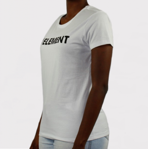 Camiseta Element Feminina Horizontal Essential - Branco/Preto