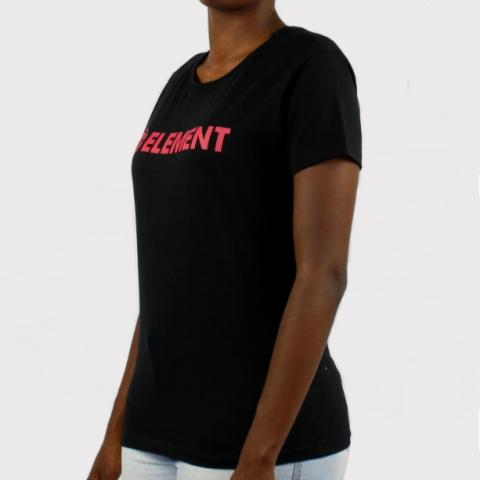 Camiseta Element Feminina Horizontal Essential - Preto