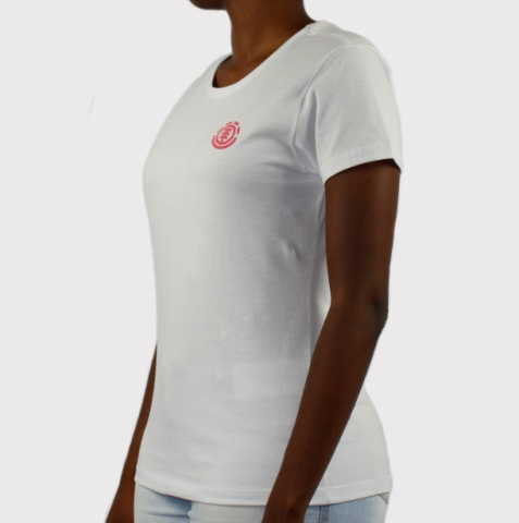 Camiseta Element Feminina Minimal Logo - Branco