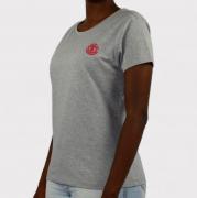 Camiseta Element Feminina Minimal Logo Cinza Mescla