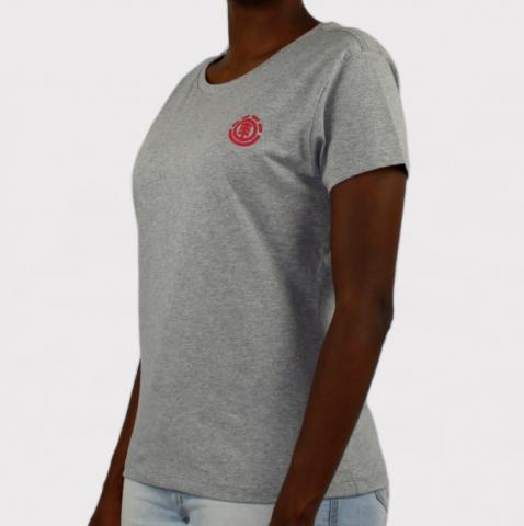 Camiseta Element Feminina Minimal Logo - Cinza Mescla