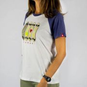 Camiseta Element Feminina Raglan As You Branca/Roxa