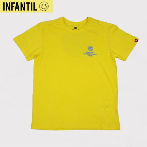 Camiseta Element Juvenil Chrome BK - Amarelo