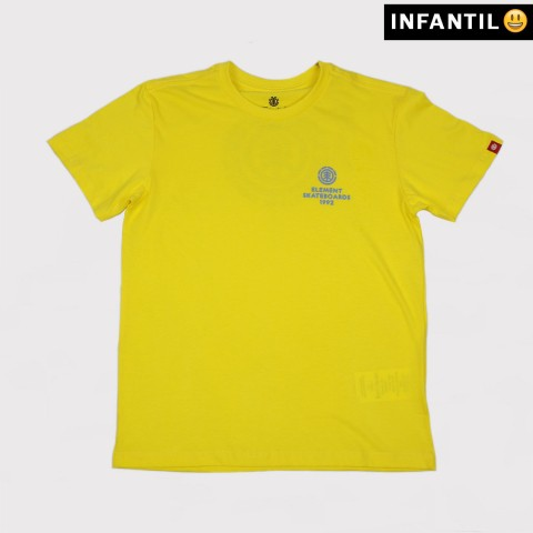 Camiseta Element Juvenil Chrome BK - Amarelo