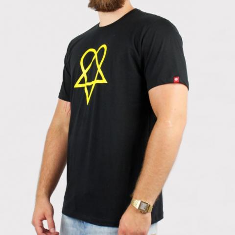 Camiseta Element Pró Model Margera - Preto/Amarelo
