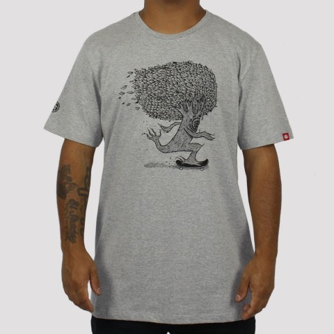 Camiseta Element Pushing Tree - Cinza