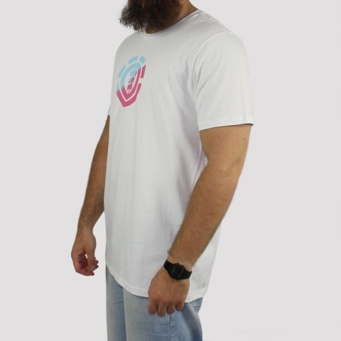 Camiseta Element Quadrant - Branco/Pink