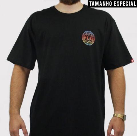 Camiseta Element Seal Gradient (Tamanho especial) - Preto