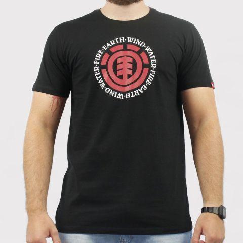 Camiseta Element Seal - Preta/Vermelha