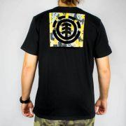 Camiseta Element Shapes Preta/Amarela