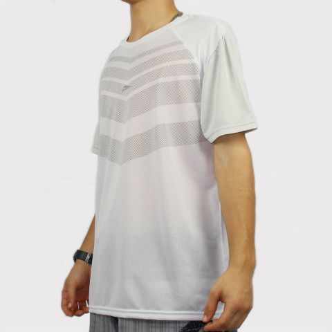 Camiseta Federal Art Dry Micro Furos - Branca