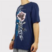 Camiseta Federal Art Rosa - Azul Marinho