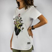 Camiseta Feminina Chemical Heart Branca