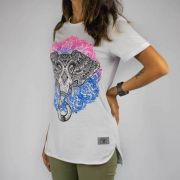 Camiseta Feminina Chemical Indian Elephant Branca