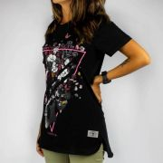 Camiseta Feminina Chemical Triangle Kose Preta