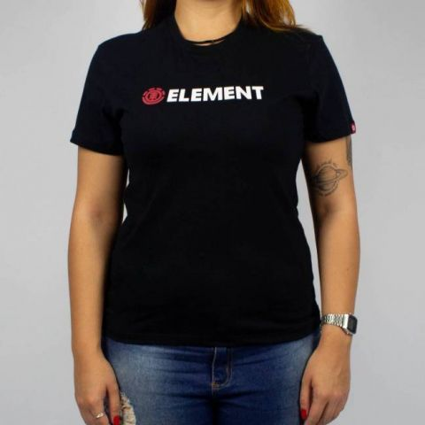 Camiseta Element Feminina Blazin SS BK Preto/Vermelho